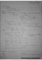 Class notes on partial fractions and numerical integration
