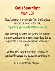 Psalm 139 - God's Searchlight.ppt