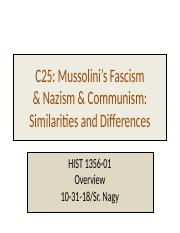 HIST 1356-01-C25  -WW2 -isms  overview Nagy (2).pptx