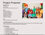 project proposal & code of conduct