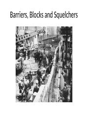Chapter 2 - Barriers, Blocks and Squelchers.pptx