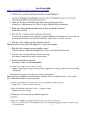 Unit 2 Study Guide New
