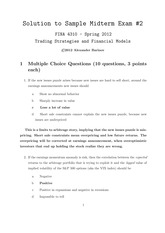 Sample Midterm 2 - Answers