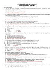 SET B_ANOTHER SET OF PROFESSIONAL EDUCATION 2 with ANSWER KEY.docx