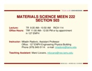 Meen 222- Lecture 1