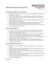 Behavioral Interview Questions (1)