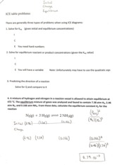 Notes on Initial Change Equilibrium with Problems