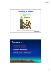 Week 12 - Lecture notes - Slope stability- 2 slides per page - colour