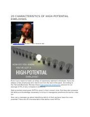 20 CHARACTERISTICS OF HIGH.docx