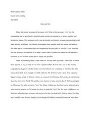 Philisophical Ethics Paper #2 - kant and war