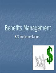 BIS Implementation -- Topic4 -- Benefits Management(2) (1)