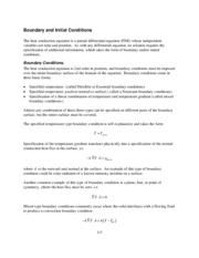 7 - Initial and boundary conditions