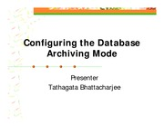 2-Configuring the Database Archiving Mode