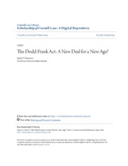 The Dodd-Frank Act- A New Deal for a New Age-