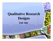 4 - Chapters 14&15 - QUAL Research