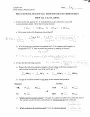 CHEM 109 Practice Exam 2 Key