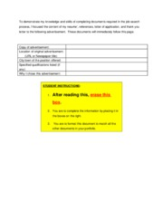 15 Workplace -- Job-search documents coversheet