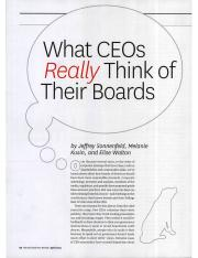 4. What CEOs Really Think of Their Boards