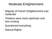 Moderate Enlightenment PP Slides