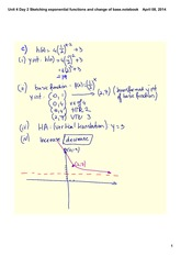 Sketching exponential functions and change of base