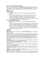 Notes Abnormal Psych Ch 12 substance related disorders