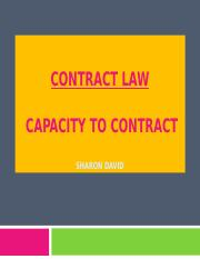 Law of Contract - Contractual Capacity.ppt