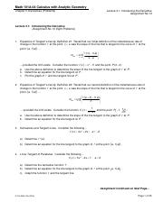 Math 101A-07 - Assignments 13 - 22 (Chap 3) - Derivatives (Problems).pdf