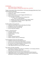 Management Session 17 Notes