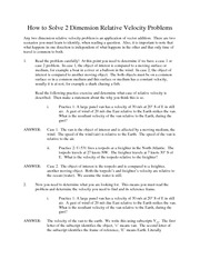 How to solve 2 dimension relative velocity problems