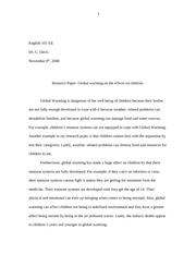 Research Paper- Global Warming