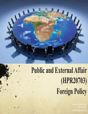 TOPIC 4 - FOREIGN POLICY