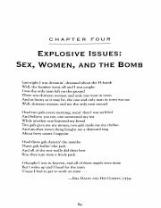 Explosive Issues Sex, Women, and the Bomb