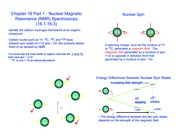 Lecture 11- Chapter 16 - Nuclear Magnetic Resonance part 1 - Proton NMR notes 4 to a page