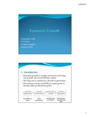 Lecture: Economic Growth