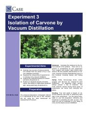 CHEM233 - Experiment3 Isolation of Carvone by vacuum distillation.pdf