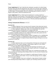Business and Professional Writing Indirect and Direct Response Homework