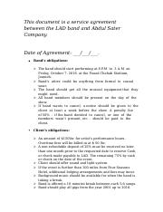 This document is a binding contract between the band LAD   and  Abdel Sater Company.docx