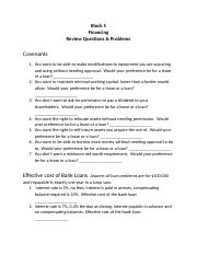 Block 5 Short-Term Financing Review Questions and Problems.docx