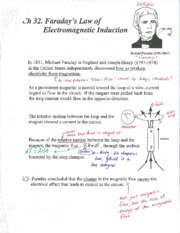 Ch 32 Faradays Law and Induction Annotated Notes