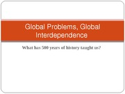 Global Problems, Global Interdependence 07-03-1