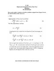E 245 Homework Assignment 5; Part 2; Chapter 4; 6th Edition; Solutions