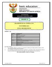 physical science paper 2 examplar 2014 grade12