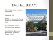 Ebay Intro Slides Company Analysis Project - SM299