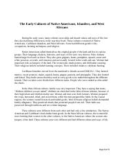HIS 121 Essay #1 The Early Cultures of Native Americans.docx