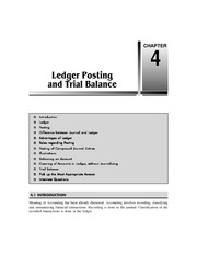 Chapter 4   Ledger Posting and Trial Balance