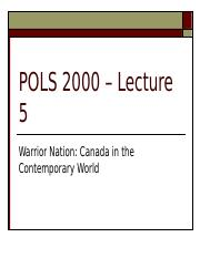 POLS 2000 - 2016 Fall - Lecture 5