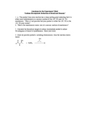 Borohydride Lab Report Ques