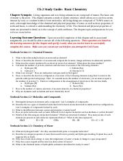 Ch 2 Study Guide