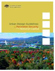 Urban Design Guidelines for Perimeter Security  in the National Capital- 2003