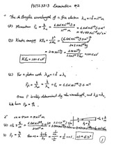 Exam B Solutions on Modern Physics For Engineers